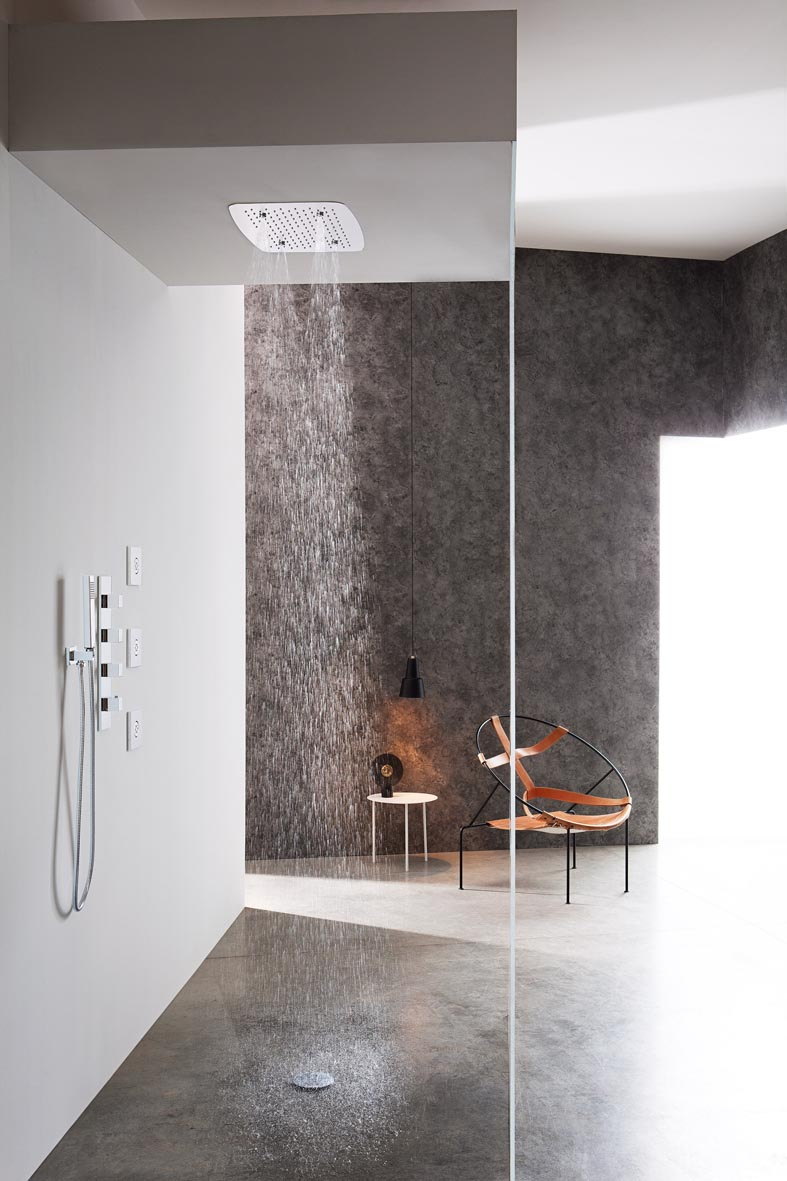 Great Graff Aqua Sense Ceiling Mounted Showerhead In Stainless Steel With Rain  And Mist Functions. Dimensions