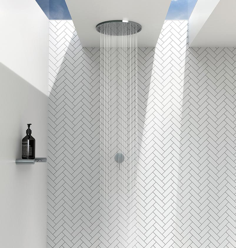 Phoenix Tapware flush mounted ceiling showers The Kitchen and