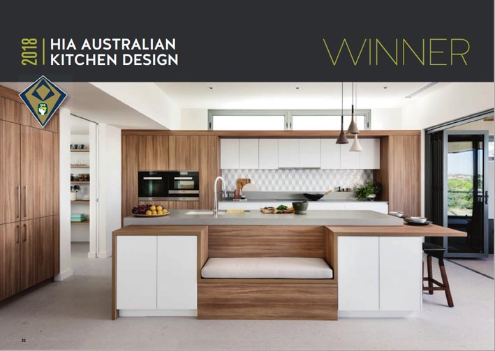 2018 hia australian kitchen bathroom awards the for Walls brothers designer kitchens
