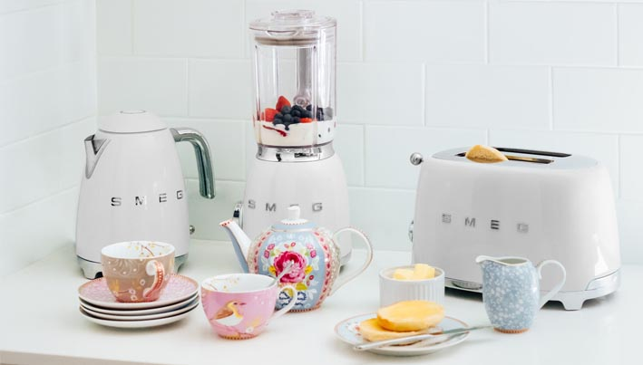 Smeg Iconic Small Appliances In White The Kitchen And